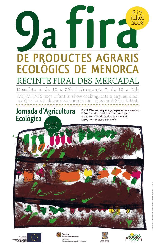 9ª Fira de Productes Agraris Ecològics de Menorca – Mercadal 6 i 7 de juliol.